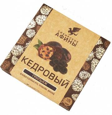 Мягкий кедровый грильяж Сибирский кедр в шоколаде с кокао