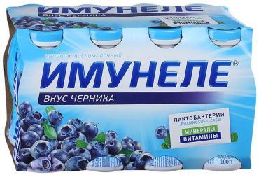 Кисломолочный напиток Имунеле Черника 1,2%