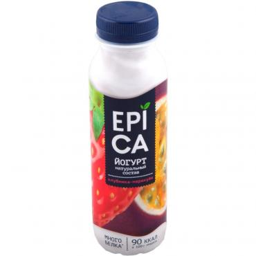 Йогурт питьевой Epica с Клубникой и маракуйей 2,5%