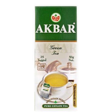 Чай Akbar Green зеленый в пакетиках
