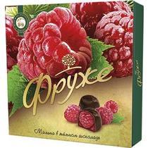 Конфеты Фруже глазированные Малина фружеле в темном шоколаде