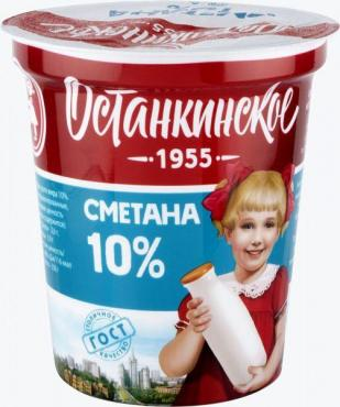 Сметана Останкинский МК 10% 350г