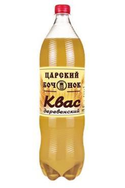 Квас Царский бочонок хлебный Деревенский, 1,5 л., ПЭТ