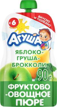 Пюре Агуша Яблоко Груша Брокколи с 6 месяцев