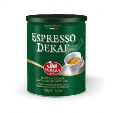 Кофе Saquella Espresso Dekaf молотый без кофеина