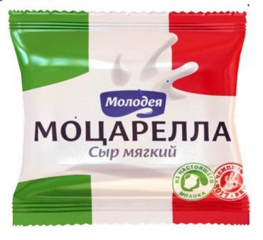 Сыр Молодея Моцарелла Мягкий рассольный 45%