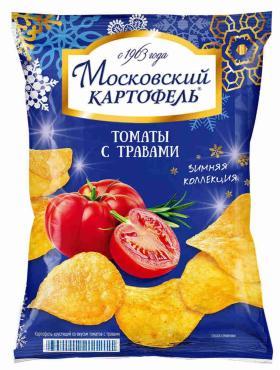 Чипсы Московская картошка с томатами и травами
