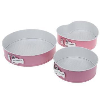 Формы для выпечки Доляна Флери Круг разъемные с керамическим покрытием микс 3 шт.