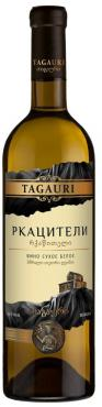 Вино столовое сухое белое 10-12% Tagauri Rkatsiteli, 750 мл., Стекло, Россия