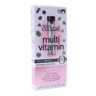 Коктейль для лица Bio World Secret Life Detox Therapy мультивитаминный 7 шт.