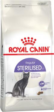 Корм сухой для взрослых стерилизованных кошек, Royal Canin Sterilised 37, 400 гр., Дой-пак