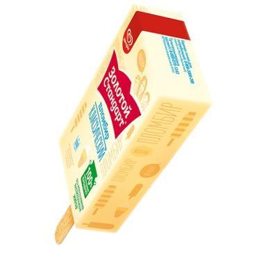 Мороженое Золотой Стандарт эскимо без глазури 70 гр