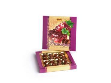 Набор конфет ликерных в шоколаде Рахат Виноград, 160 гр., картонная коробка