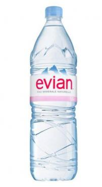 Вода минеральная природная питьевая без газа Evian 1,5 л., ПЭТ