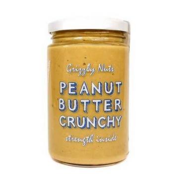 Арахисовая паста хрустящая Crunchy, Grizzly Nuts, 370 г., стекло