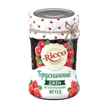 Джем Брусничный Mr. Ricco, 310 гр., стекло