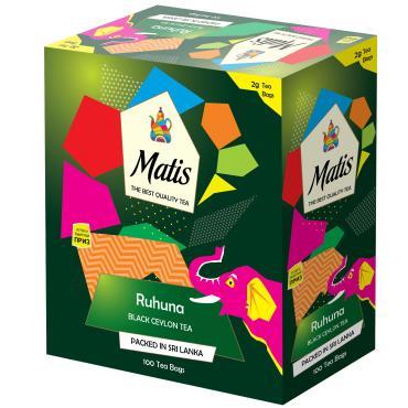 Чай пакетированный черный 100 пак. Matis Ruhuna, 200 гр., картонная коробка