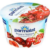 Йогурт натуральный вишня черешня 2,4%,  Parmalat,  180 гр., ПЭТ