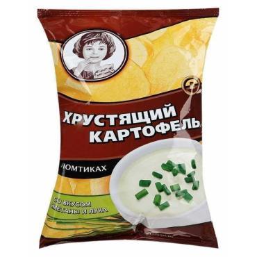 Чипсы Хрустящий картофель Со вкусом сметаны и лука