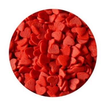 Кондитерские сердечки красные фигурные