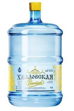 Вода питьевая Хваловская Premium, Хваловские Воды, 18,9 л., ПЭТ, 10 бутылей