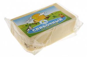 Сыр полутвердый 50 % кусок порционный Кезский сырзавод Сливочный, 250 гр., вакуумная упаковка