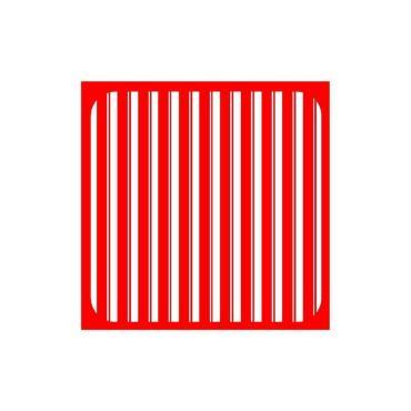 Прихватка Мультидом Полоски 17х17см красная