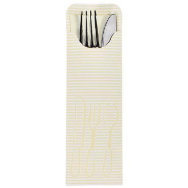 Куверт Papstar Конверт для столовых приборов с салфеткой кремовый 235х72мм. 100шт.
