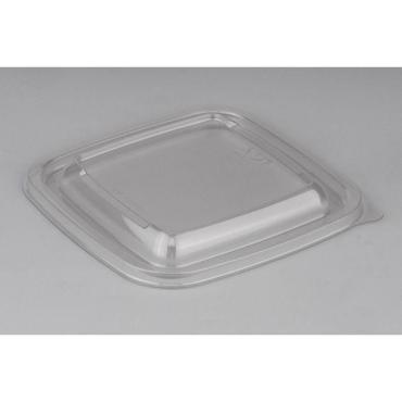 Крышка к контейнеру Стиролпласт Сп-1212К 12,6х12,6х1,3 см. квадратная прозрачная
