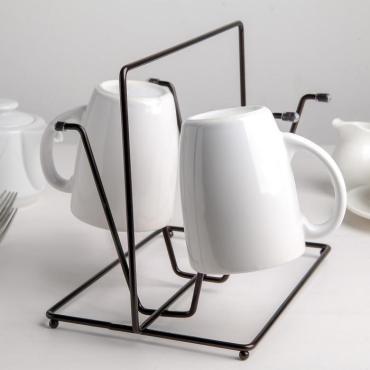 Сушилка для стаканов Доляна Лофт 24,5×16×19,8 см., цвет чёрный