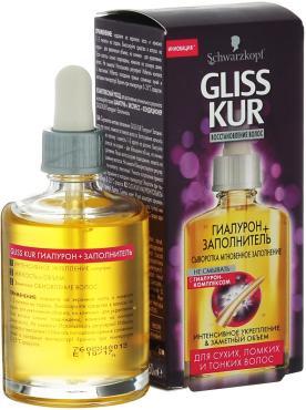 Сыворотка для волос Schwarzkopf Gliss Kur Гиалурон-заполнитель, 100 мл., картонная коробка