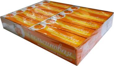 Жевательная резинка Plastinki Апельсиновая, 20 пачек по 5 шт