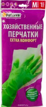 Перчатки резиновые размер L Paterra, пластиковый пакет