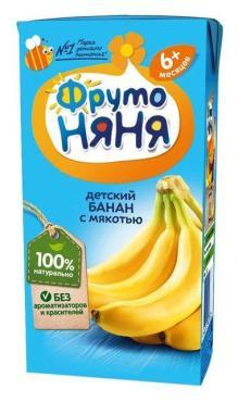 Нектар ФрутоНяня Банановый с мякотью