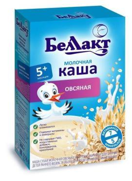 Каша молочная овсяная, с 5 мес., Bellakt, 200 гр., картонная коробка