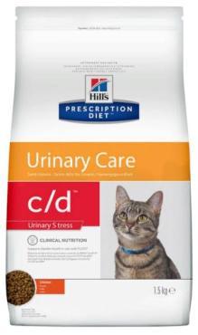 Корм сухой диетический, для кошек при профилактике цистита и мочекаменной болезни, в том числе вызванной стрессом, с курицей Hill's Prescription Diet c/d Multicare Urinary Stress, 1,5 кг., дой-пак