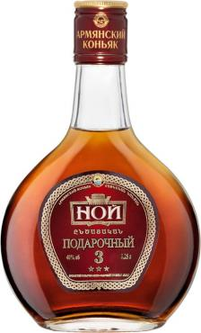 Коньяк армянский трехлетний 40% Ной Подарочный, 250 мл., подарочная упаковка