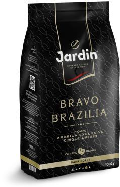 Кофе в зернах Jardin Bravo Brazilia, 1 кг., фольгированный пакет