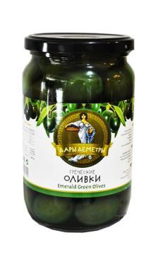 Дары Деметры оливки изумурдные супергигант с/к 720гр ст/б 1/12