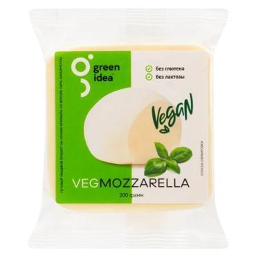 Готовый  пищевой продукт на основе  крахмала со вкусом сыра «Моцарелла» Green Idea кусок 200 гр.,