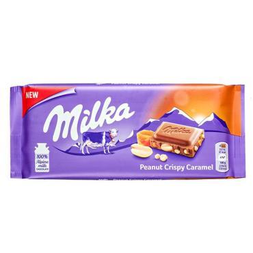 Шоколад Milka Peanut Crispy Caramel Молочный
