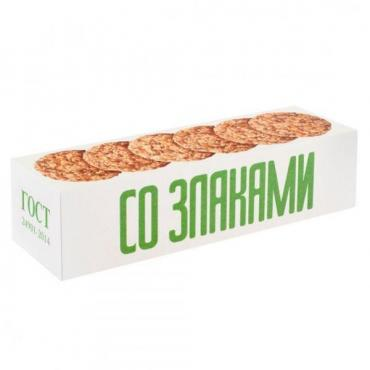 Печенье Овсяное Классическое со злаками, Полет, 250 гр., картонная коробка