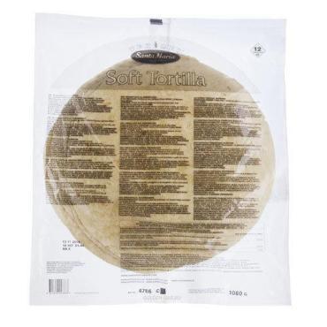 Тортилья пшеничная 10 (12 шт) Santa Maria 750 гр., пластиковый пакет