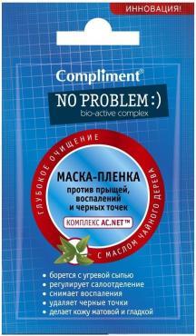 Маска-пленка для лица Compliment No problem против прыщей и угрей
