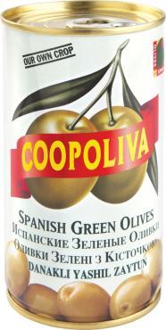 Оливки Coopoliva Зеленые испанские с косточкой
