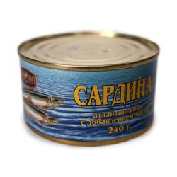 Сардина Фаворит Атлантическая натуральная с добавлением масла