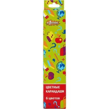 Карандаши цветные №1 School Отличник 6 цветов 6 гранные