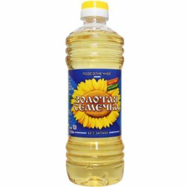 Масло подсолнечное рафинированное дезодорированное, Золотая Семечка, 500 мл., ПЭТ