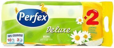 Туалетная бумага Perfex De luxe с ароматом ромашки 3 слоя