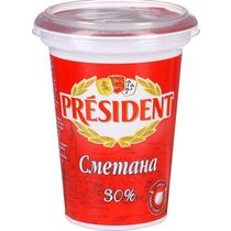 Сметана President 30%